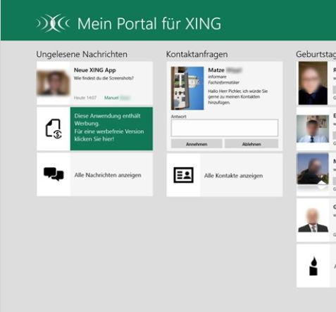 Xing als Windows 8 App