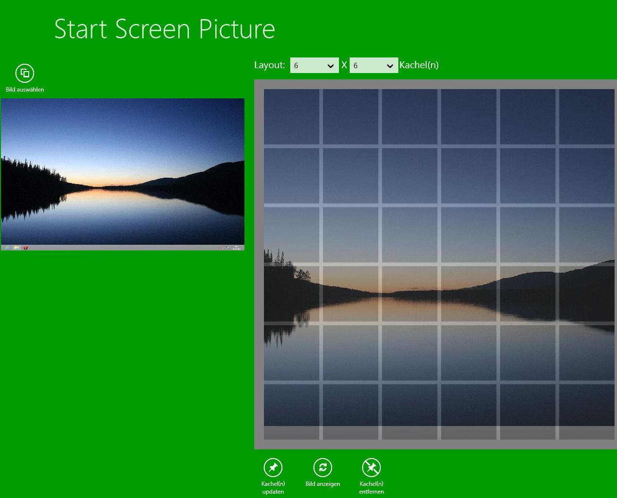 Fotos in mehreren Kacheln darstellen – Windows 8 App