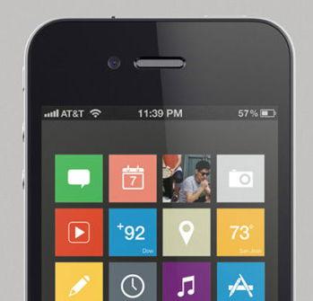 """iOS7 steigt auf """"Flach"""" um"""