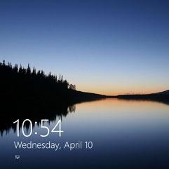 Beim Lock Screen – Sperrbildschirm – den Monitor eher abschalten lassen