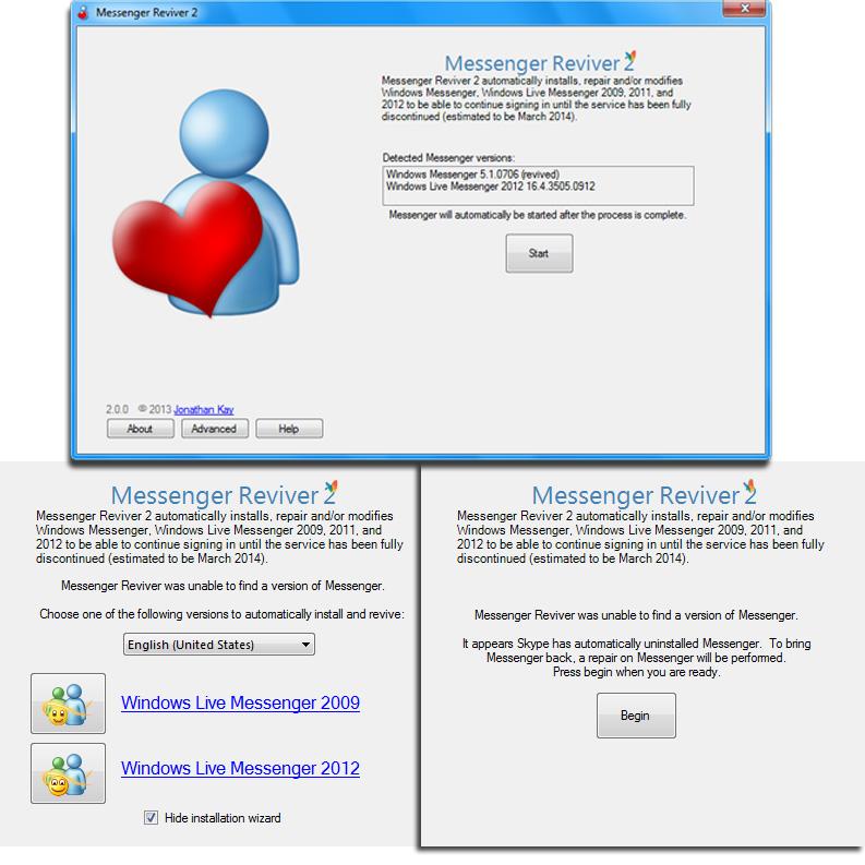 Windows Live Messenger weiterhin benutzen, anstatt Skype