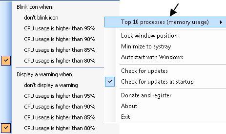 CPU und Ram-Anzeige im Systray