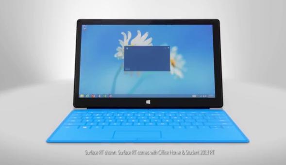 """Das """"Surface RT"""" zeigt sich im neuen Werbespot"""