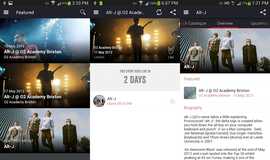 """Live-Songs oder Konzerte mit """"Soundhalo"""" herunterladen"""