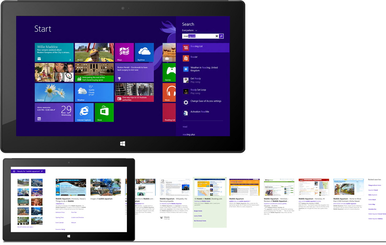 Nun offiziell: Bingsuche in Windows 8.1 integriert