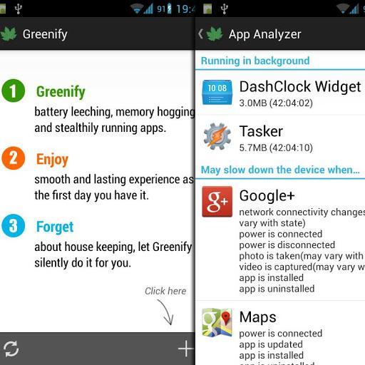 Android: Greenify Speicherhungrige Apps in den Ruhezustand schicken