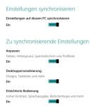 Synchronisation: Gespeicherte Einstellungen  aus dem Microsoft Account löschen