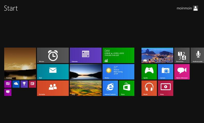 Veränderungen im Metro – ModernUI Startmenü von Windows 8.1