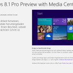 Windows 8.1 Prev. Downloadlink und Installationshinweise