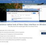 Aero Glass 1.0 Finale Version: Transparenz für Windows 8