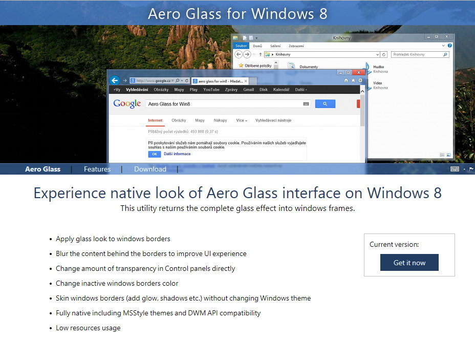 Aero Glass 1.0 Finale Version: Transparenz für Windows 8