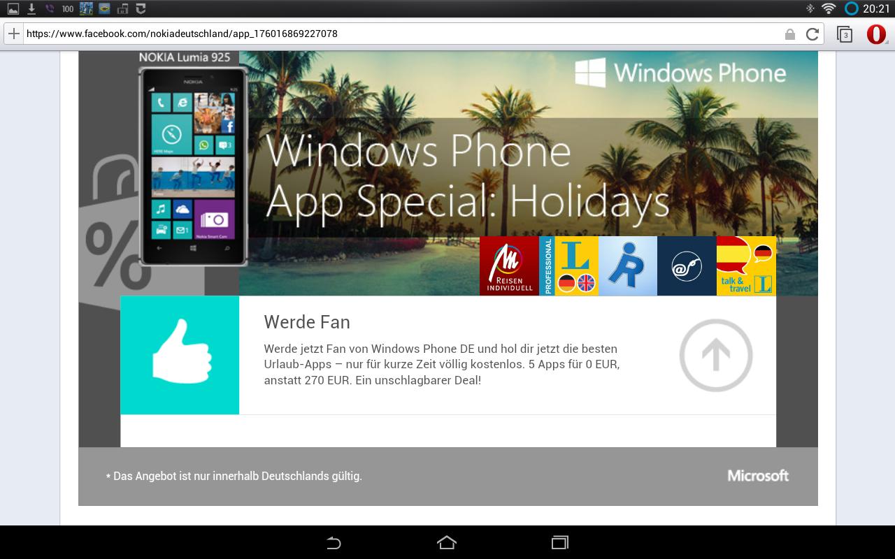 Windows Phone: Nokia verschenkt Apps für den Urlaub