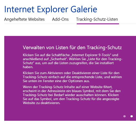 Internet explorer werbung blocken.