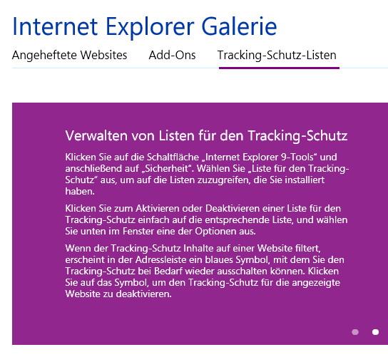 Internet Explorer ohne Adblocker trotzdem Werbung blockieren