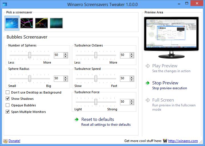 Winaero Screensavers Tweaker: Bildschirmschoner mit einem Tool einstellen