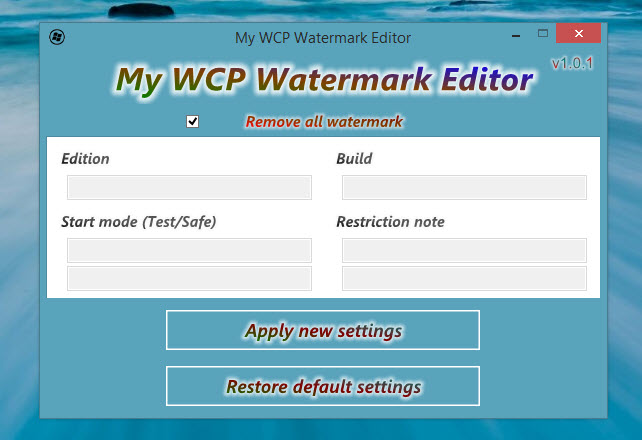 [Kurzinfo] Wasserzeichen der Windows 8.1 Preview entfernen