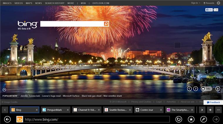 Microsoft zeigt Funktionen des Internet Explorers 11 aus der Windows 8.1 Preview