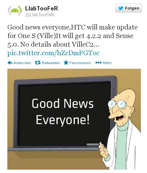 HTC One S – Update auf Android 4.2.2 nun doch in Arbeit