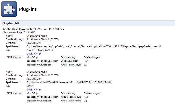 Mögliche Probleme mit dem Flash Player unter Chrome beheben