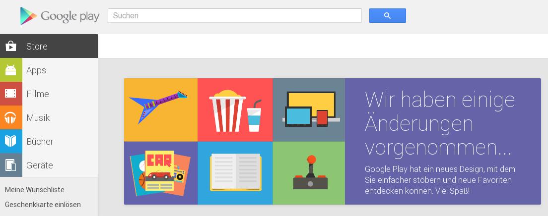 [Kurzinfo] Google Play Store nun auch in der Web-Ansicht mit neuem Design