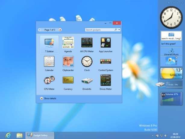 8GadgetPack Neue Version für Windows 10, 8.1 und 7