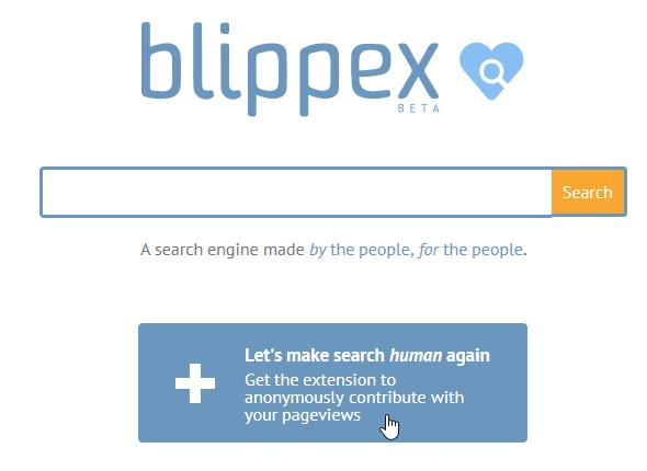 Blippex: Die neue Suchmaschine von User für User