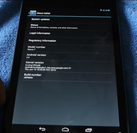 Hands-On Video zum kommenden Nexus 7 geleakt