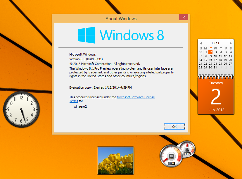 Desktop Gadgets und Sidebar nun auch für Windows 8.1