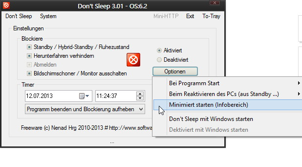 Don't Sleep 3.01 nun auch für Windows 8.1