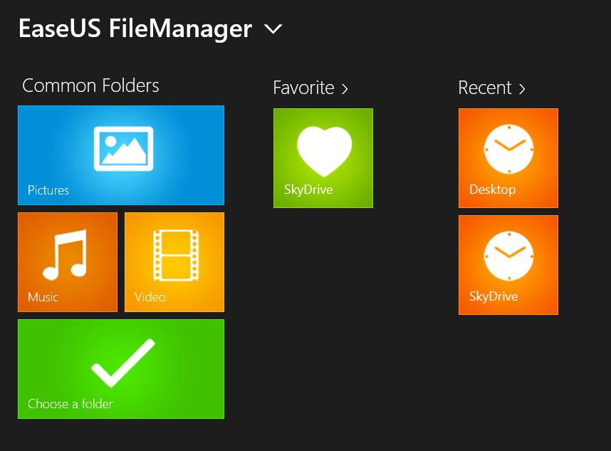 EaseUS FileManager: Sehr guter Dateimanager als Windows 8 App