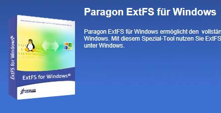 Paragon ExtFS: Finale Version des Treibers um von Windows auf Linux zuzugreifen