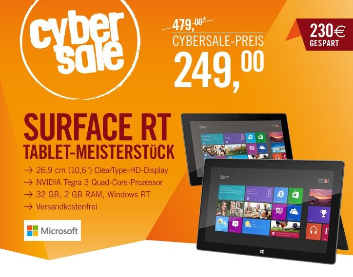 """Microsoft Surface RT mit 32 GB zum """"Rammschpreis"""" von 249,- Euro"""