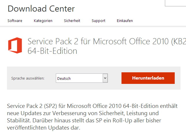 Office 2010: Zweites Service Pack erschienen