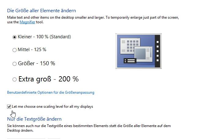 Schrift wird nicht richtig dargestellt Windows 8.1