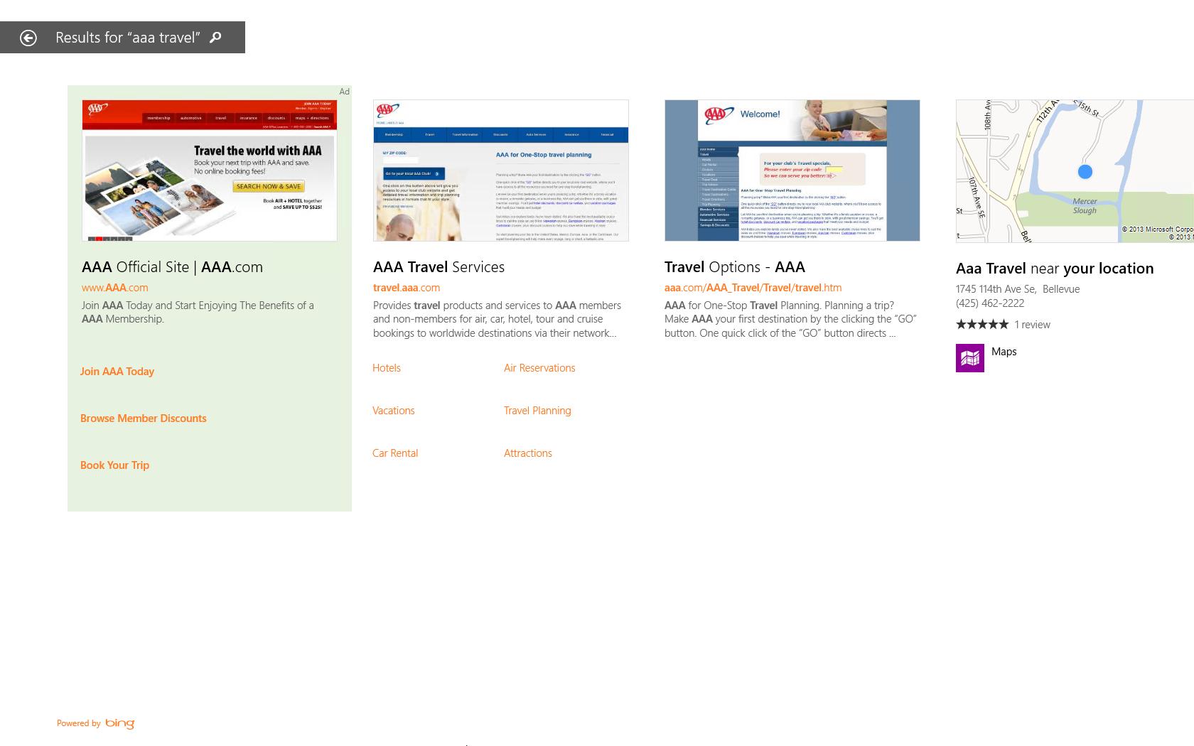 In die Suche von  Windows 8.1 wird Werbung eingebaut