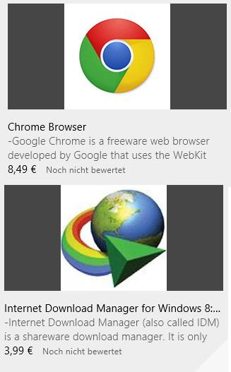 Vorsicht im Windows App Store