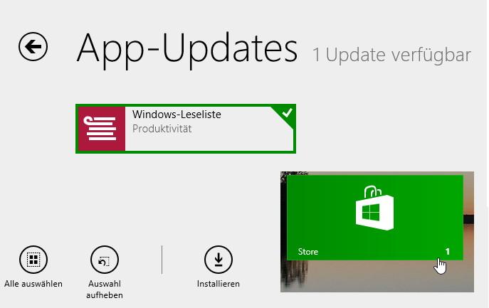 Automatische Windows App Updates deaktivieren Windows 8.1
