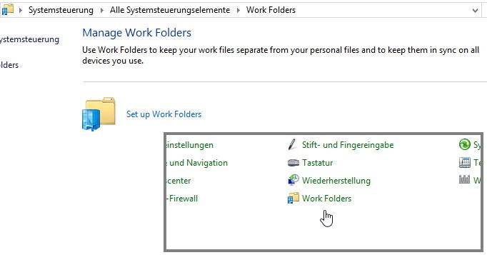 Work Folders – Arbeitsordner – Windows 8.1 Was ist das?