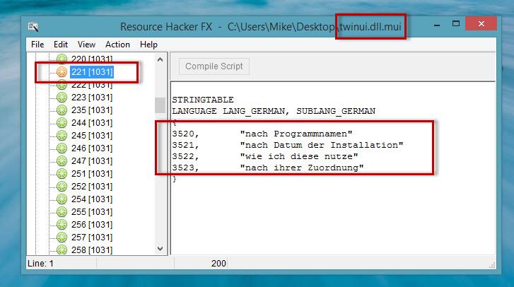 """Weitere Texteinträge des Windows 8.1 Startscreens ändern – """"Appsortierung"""" und """"Einträge beim Userbild"""""""