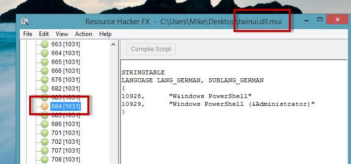 """Texteinträge des """"neuen Startmenüs"""" von Windows 8.1 ändern"""