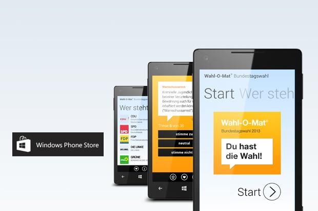 """Windows Phone App des """"Wahl-O-Mat"""" ab Donnerstag verfügbar"""