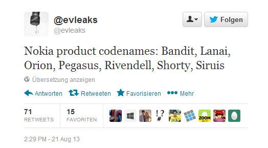 Weitere Codenamen zukünftiger Nokia-Produkte geleakt