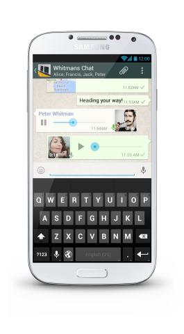 Sprachnachrichten für WhatsApp