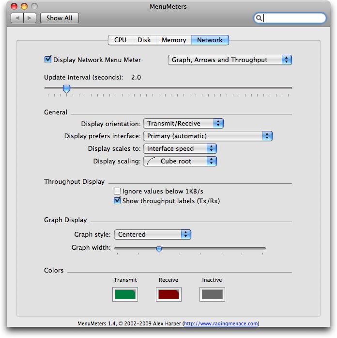 Mac OSX: Menu Meters – Systemanzeigen in der Menüleiste
