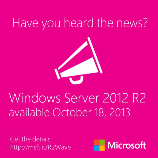 """Kurzinfo – Auch """"Windows Server 2012 R2"""" wird am 18.Oktober erscheinen"""