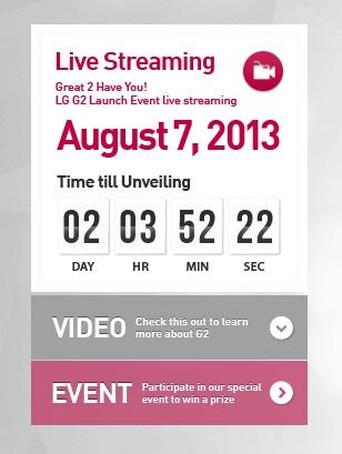 """Kurzinfo – Livestream kommt zur Vorstellung des """"LG G2"""""""