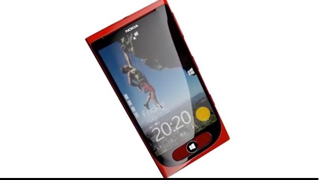 """Konzept eines """"Swipe-Buttons"""" zur Navigation eines Windows Phones"""