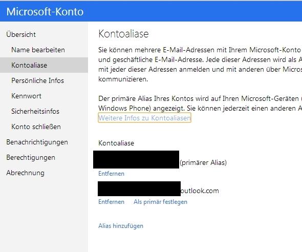 """Änderung des """"primären Alias"""" eures Microsoft-Accounts erfordert Hard-Reset auf dem Windows Phone"""