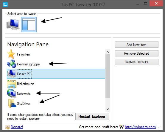 This PC Tweaker 0.3 mit noch mehr Funktionen Windows 8.1 [Update]