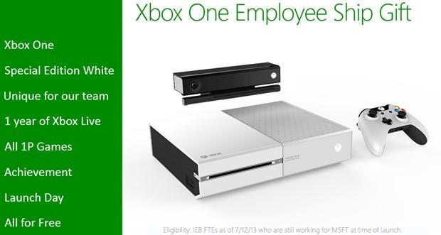 Microsoft Mitarbeiter haben die Möglichkeit eine weisse Xbox One zu bekommen